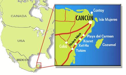 Cancún map | Cozumel map | Riviera Maya map | Isla map on